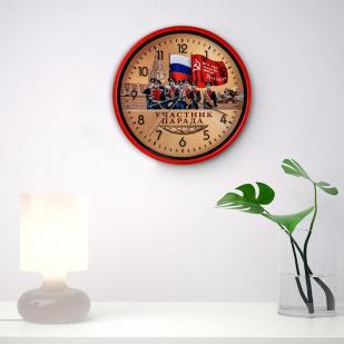 Настенные часы к юбилею Победы «Участник парада»