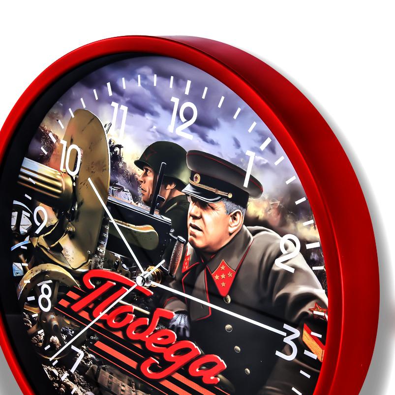 Настенные часы «Победа» с маршалом Жуковым купить в Военпро