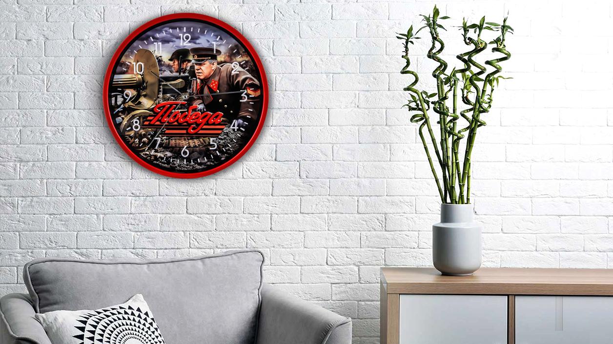 Настенные часы «Победа» с маршалом Жуковым