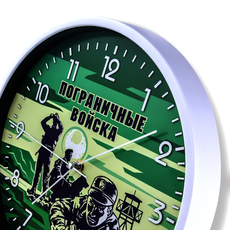 Настенные часы Пограничные войска купить в Военпро