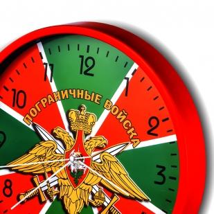 Настенные часы «Пограничные войска» с гербом купить в Военпро