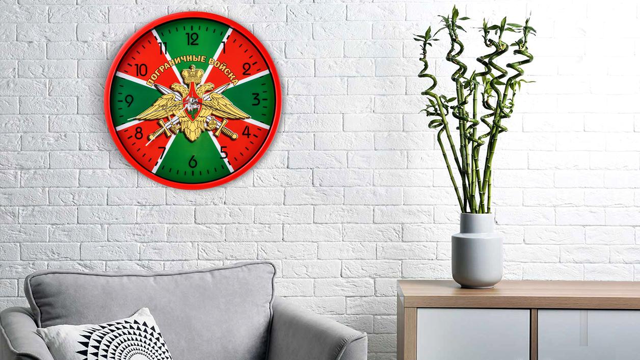 Настенные часы «Пограничные войска» с гербом