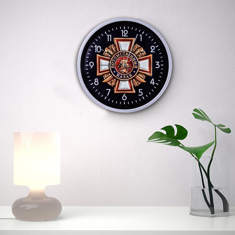 Настенные часы «Потомственный казак» заказать в Военпро