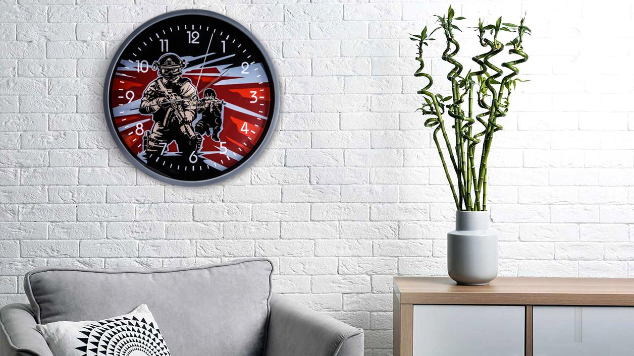 Настенные часы «Спецназ»