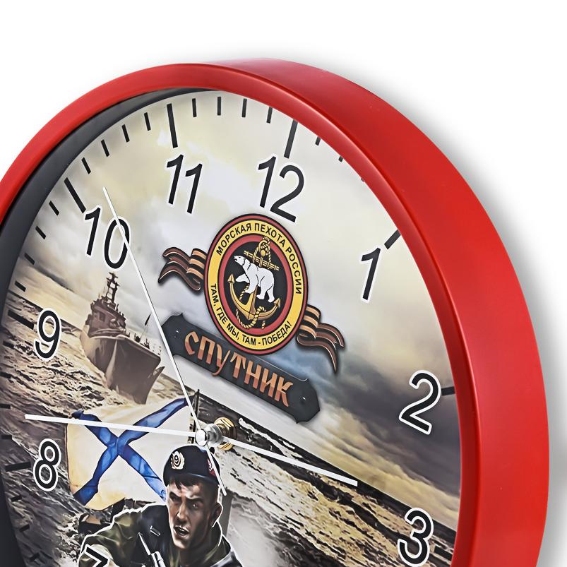 Настенные часы «Спутник» Морской пехоты России купить в Военпро