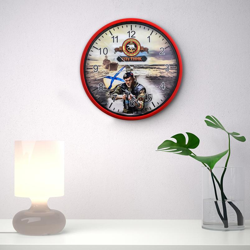 Настенные часы «Спутник» Морской пехоты России заказать в Военпро