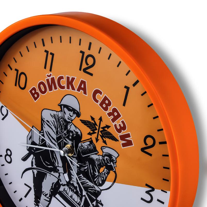Настенные часы в подарок военному связисту купить в Военпро