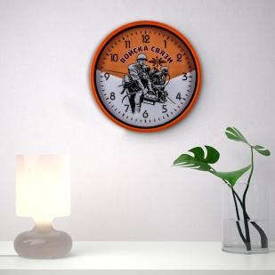 Настенные часы в подарок военному связисту заказать в Военпро