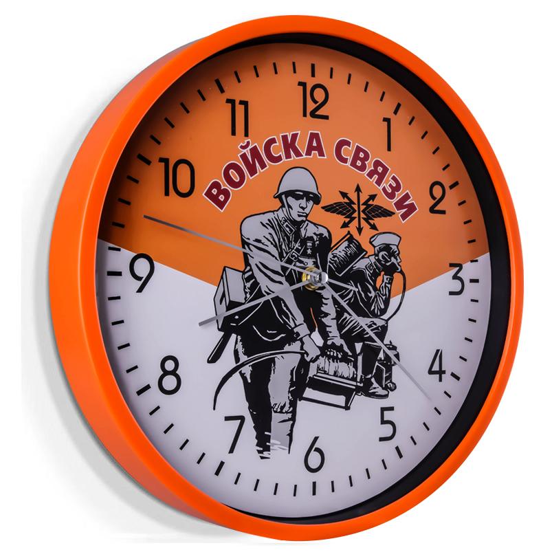 Настенные часы в подарок военному связисту