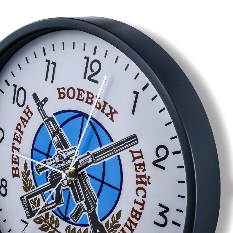 Настенные часы «Ветеран боевых действий» купить в Военпро