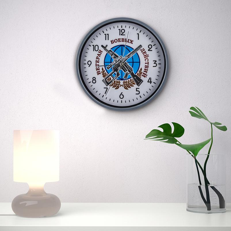 Настенные часы «Ветеран боевых действий» заказать в Военпро