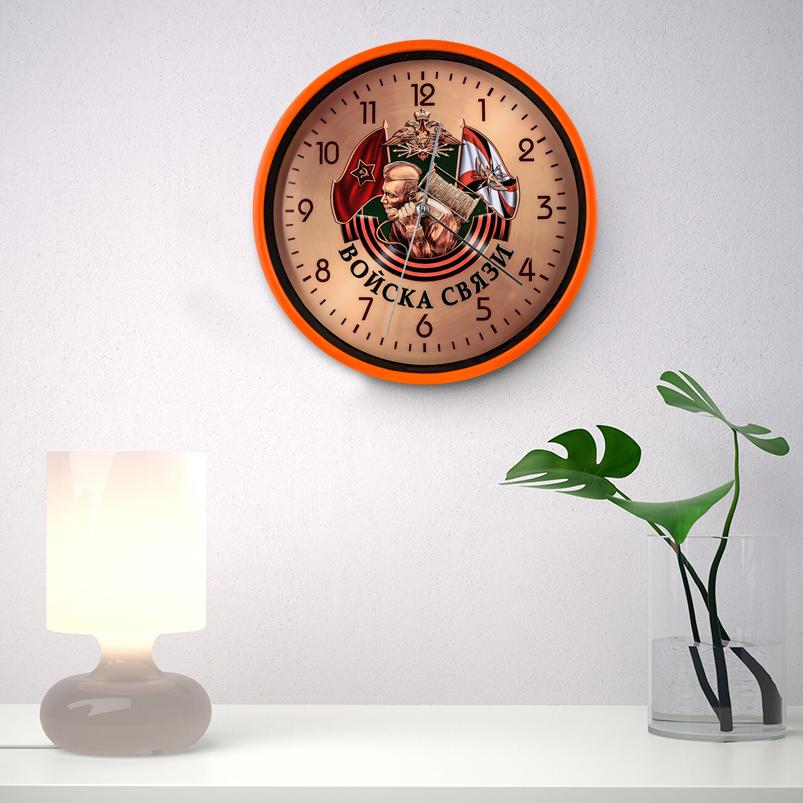 Настенные часы «Войска связи» заказать в Военпро