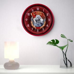 Настенные часы «За Родину! За Сталина!» заказать в Военпро