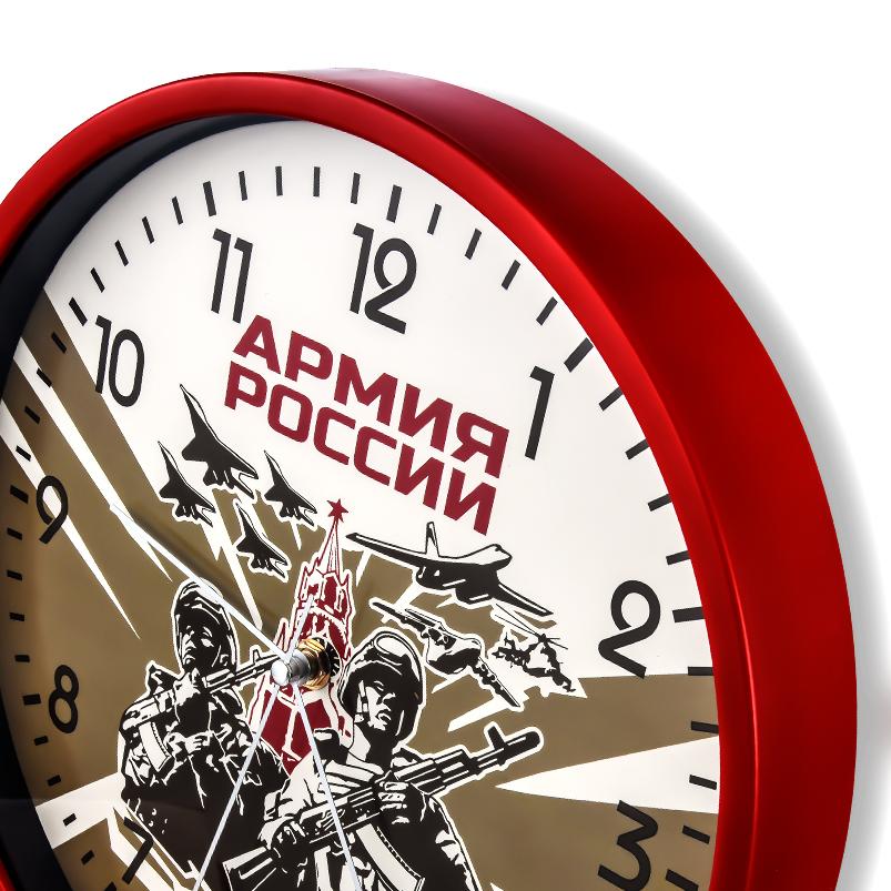 """Настенные круглые часы """"Армия России"""" купить в Военпро"""