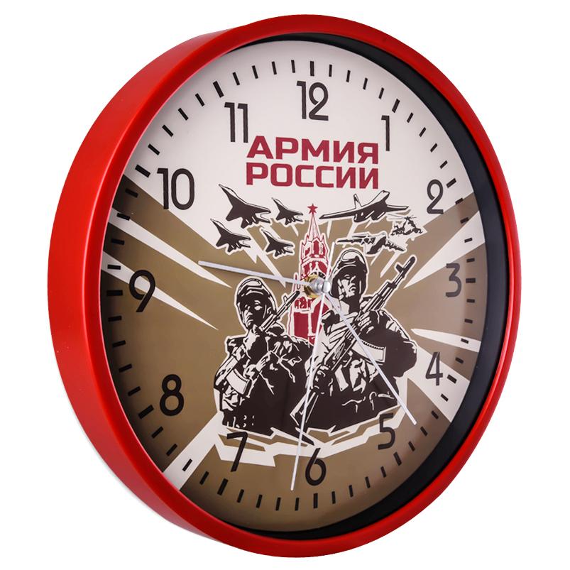 Настенные круглые часы Армия России