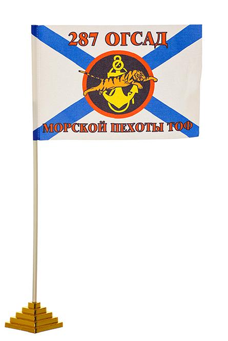 "Настольный флаг ""287 ОГСАД МП ТОФ"""