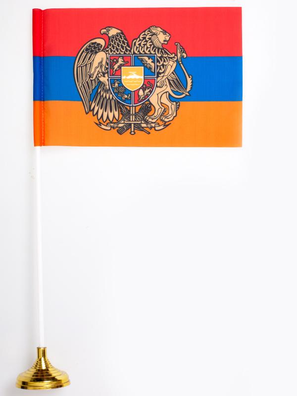 Настольный флаг Армении с гербом