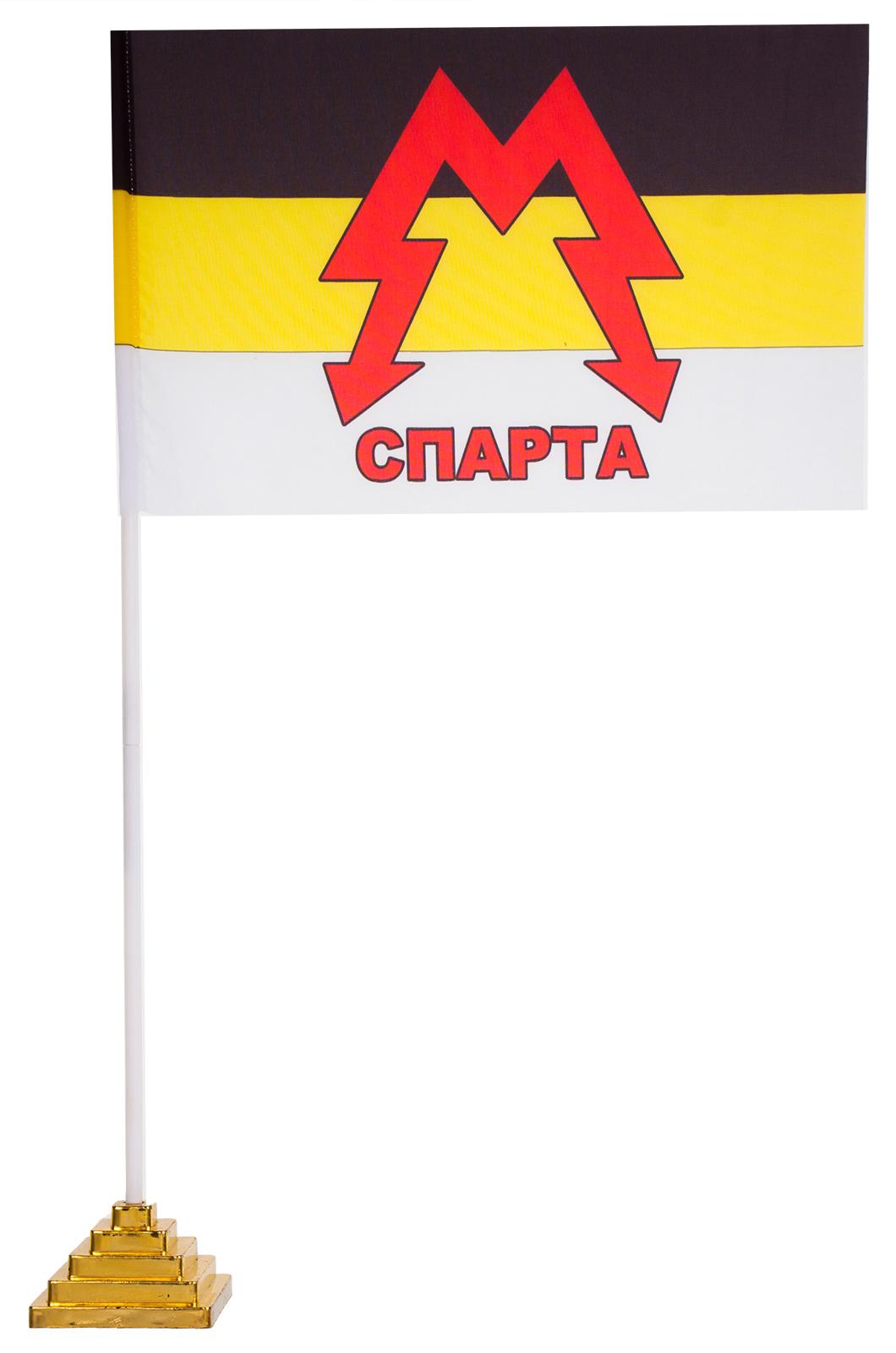 """Настольный флаг батальона """"Спарта"""""""