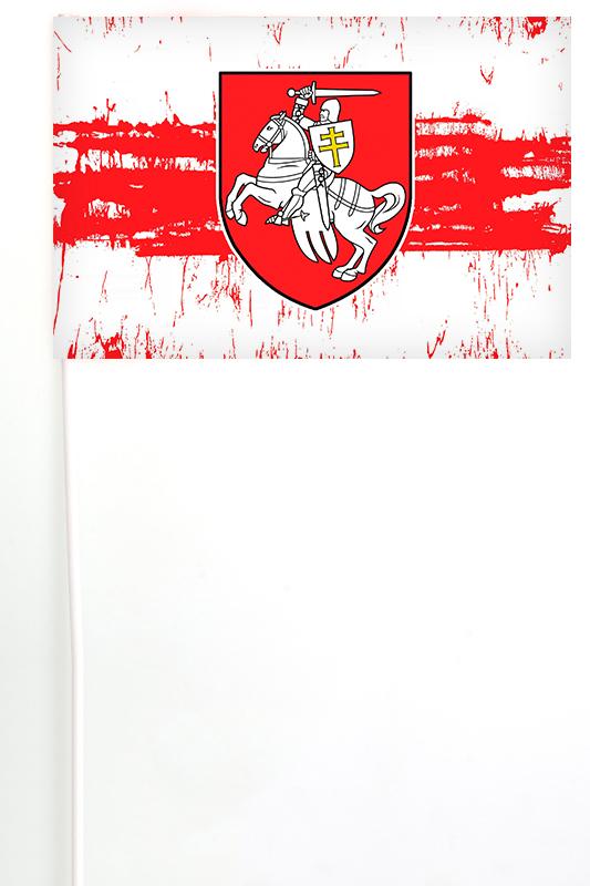 Настольный флаг Беларуси с Погоней
