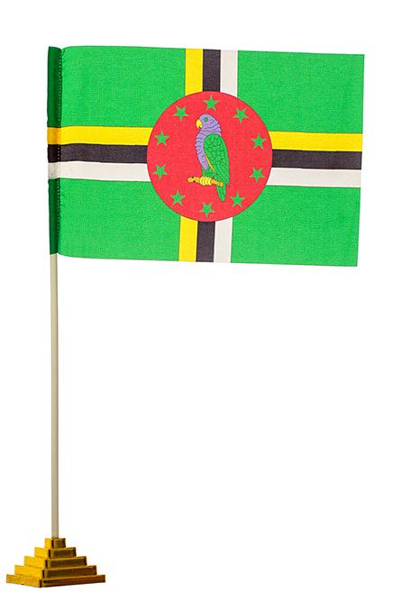 Настольный флаг Доминики