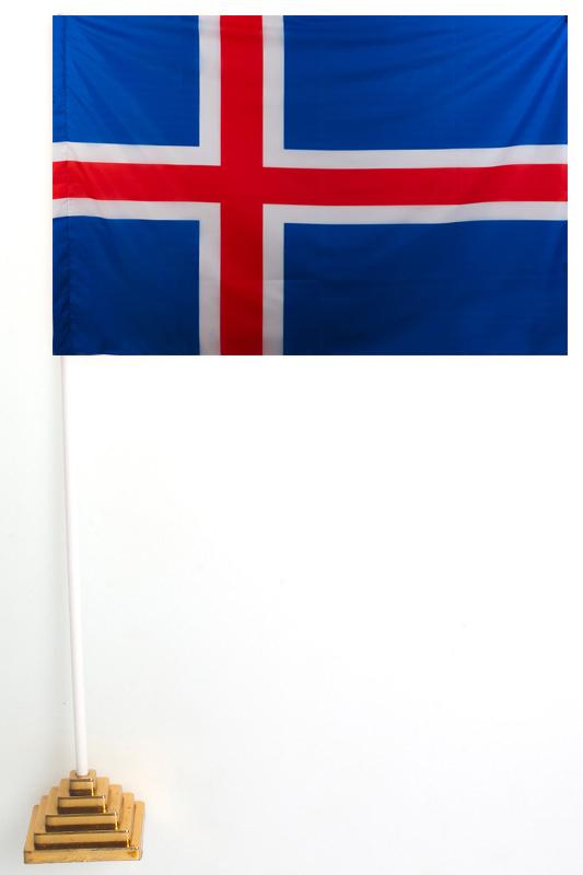 Флаг Исландии настольный