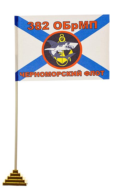 Настольный флаг пехотинцев 382-й бригады ЧФ