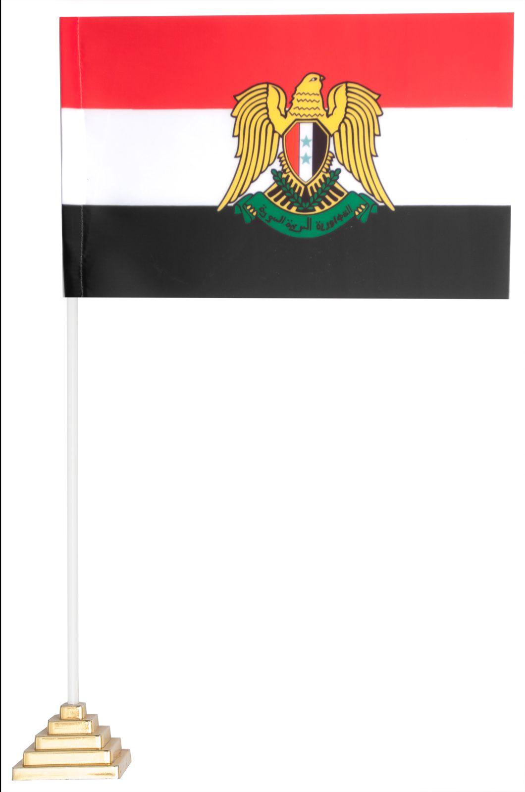 Настольный флаг Сирии с гербом