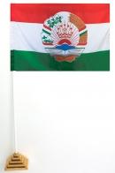 Настольный флаг Таджикистана с гербом