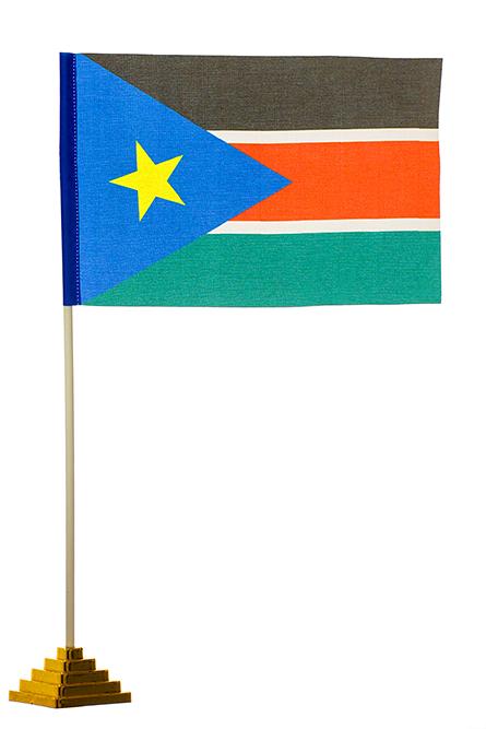 Настольный флаг Южного Судана