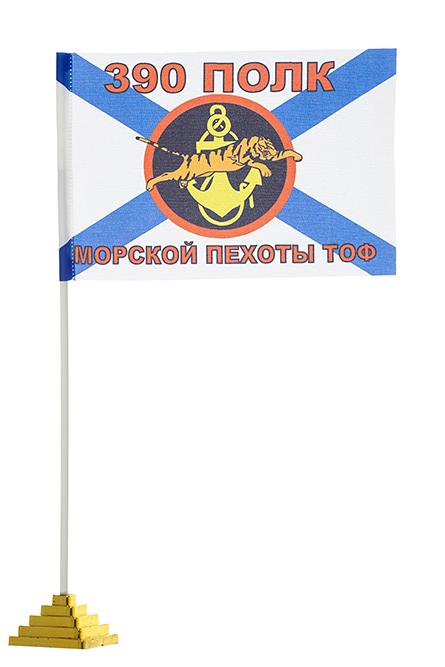 Настольный флажок 390-го полка Морской пехоты
