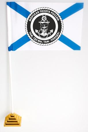 Настольный флажок с эмблемой Морпехов