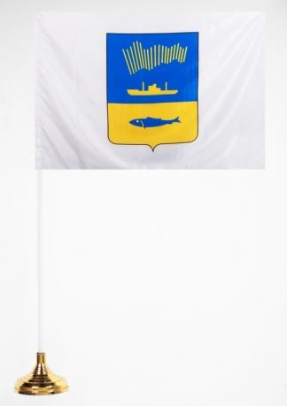 Настольный флажок с гербом Мурманска