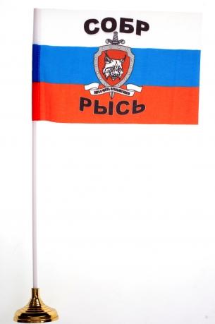 Настольный флажок СОБР «Рысь»