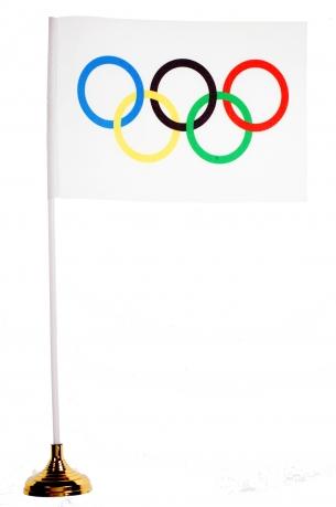 Настольный Олимпийский флажок