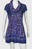 Насыщенное темно-синее платье-туника от Lord Kitsch