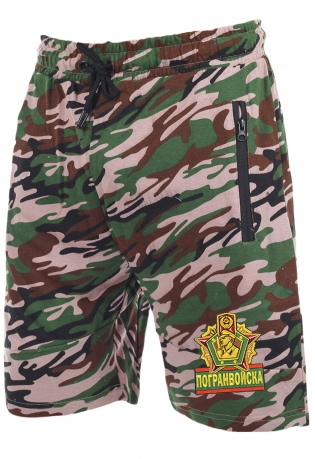Насыщенные армейские шорты с нашивкой Погранвойска