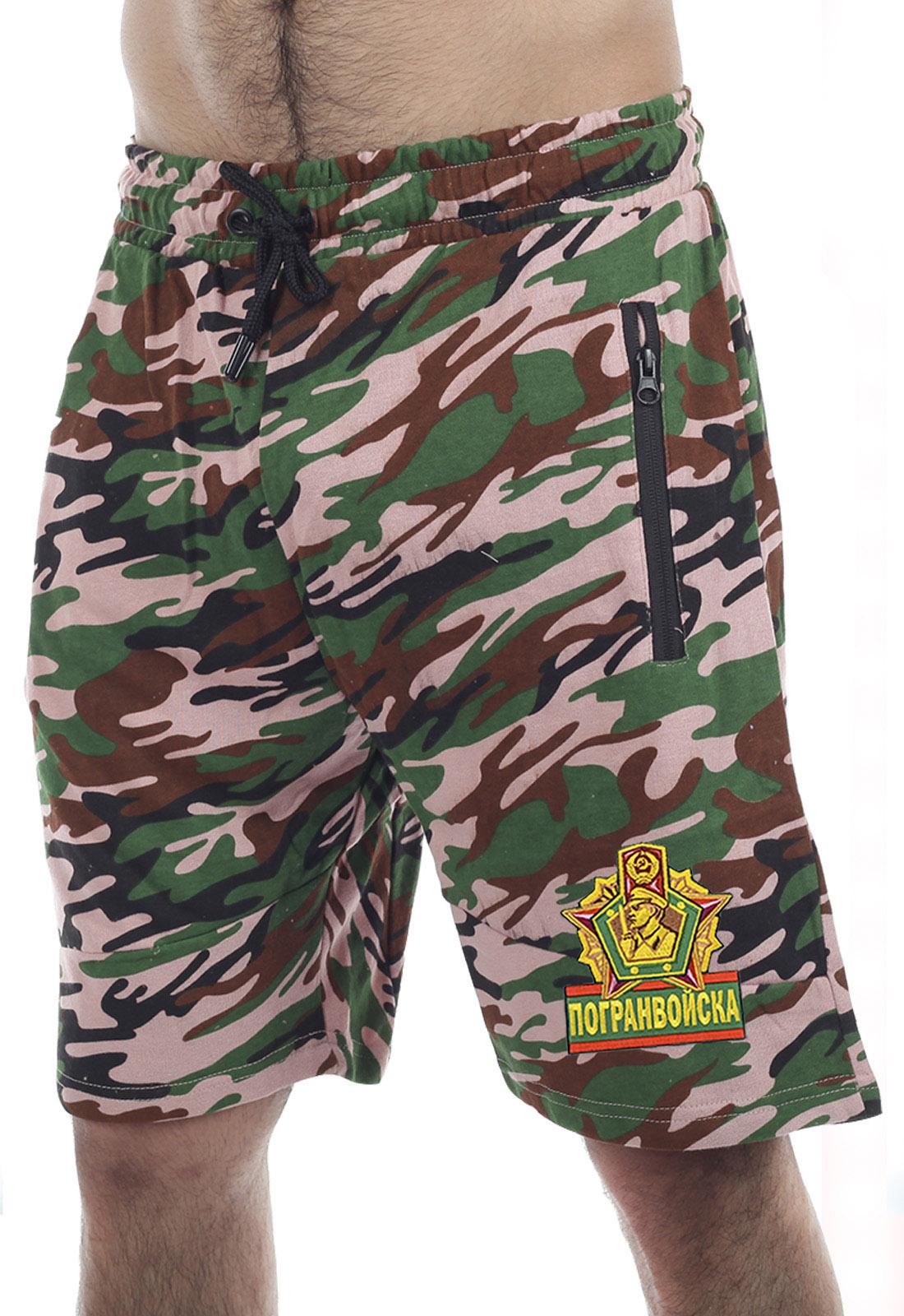 Купить насыщенные армейские шорты с нашивкой Погранвойска по выгодной цене