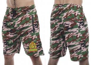 Насыщенные армейские шорты с нашивкой Погранвойска - заказать выгодно