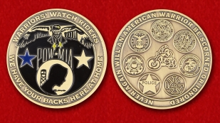 National League of Families of Prisoners of War And Missing Challenge Coin - obverse and reverse