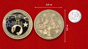 National League of Families of Prisoners of War And Missing Challenge Coin - comparative size