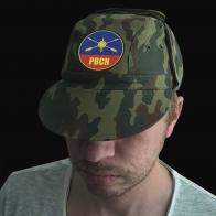 Натуральная милитари кепка с шевроном РВСН