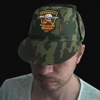 Натуральная мужская кепка с охотничьим шевроном Спецназ