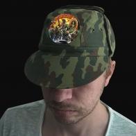 Натуральная мужская кепка с охотничьим термотрансфером Морская Пехота