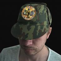 Натуральная мужская кепка с шевроном Сапер