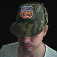 Натуральная мужская кепка с юбилейным шевроном Военная Разведка
