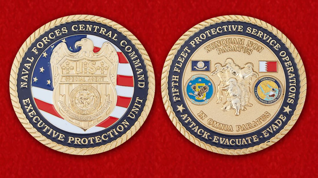Naval Forces Central Command Challenge Coin - obverse and reverse