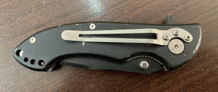 Небольшой складной нож с оригинальной рукояткой