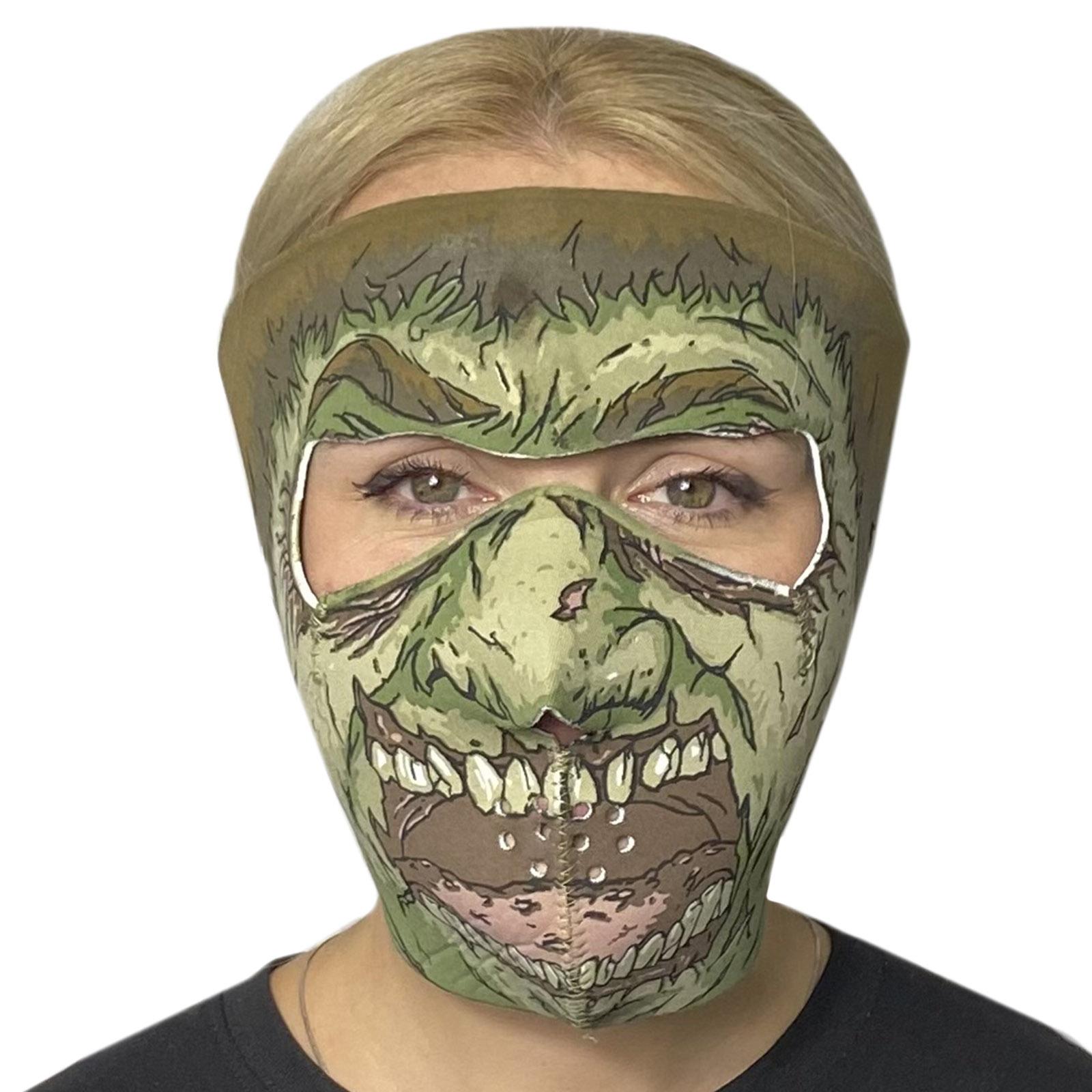 Неопреновая медицинская полнолицевая маска Skulskinz Zombie