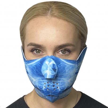Неопреновая защитная антикоронавирусная маска Wild Wear Ghost
