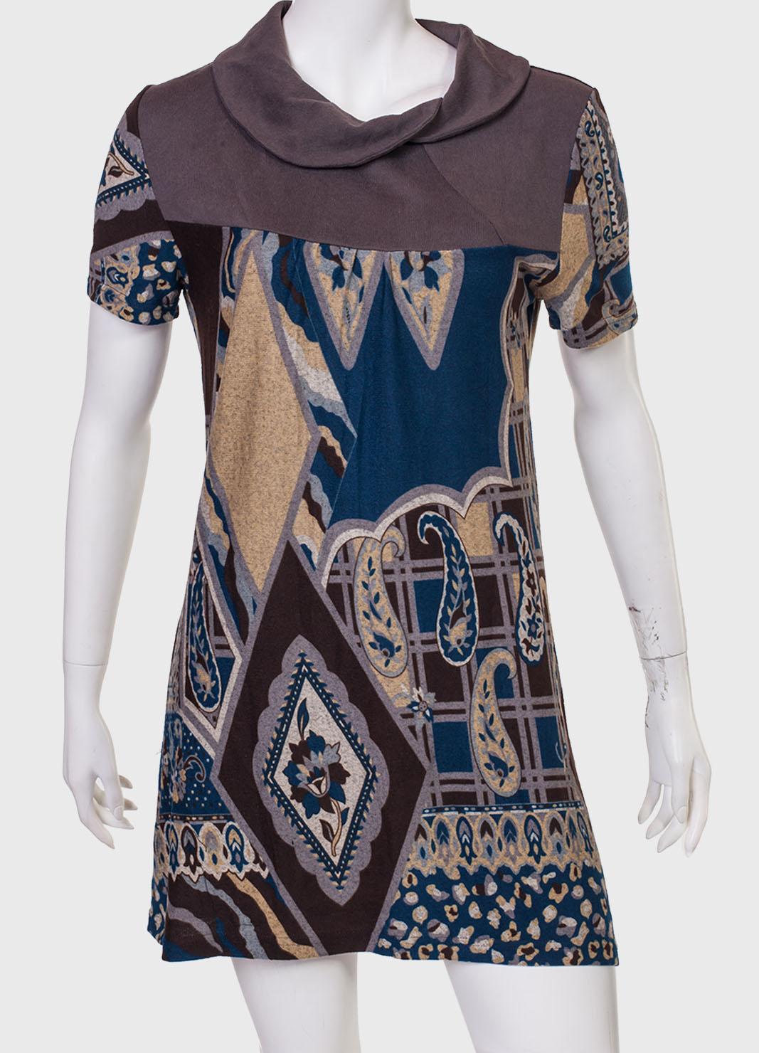 Купить неординарное платье с принтом от бренда  Z & L